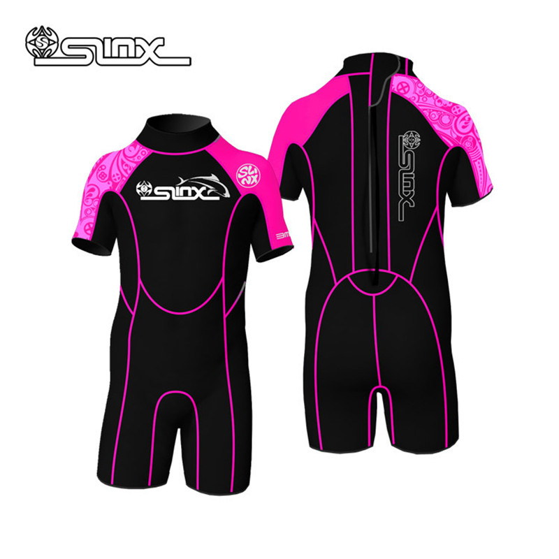 SLINX 2mm Neoprene Boys Girls Wetsuit Rash Guard Swimming Bathing Suit Surf Wear Diving Clothes For