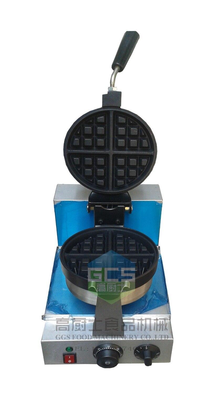 Free shipping 110v 220v  Belgium waffle baker machine waffle maker 180 rotating