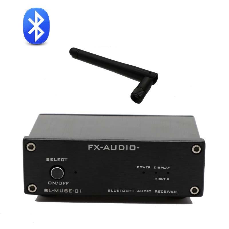 FX-Audio bl-muse-01 высоком Скорость bluetooth Hi-Fi аудио приемник Выход RCA/коаксиальный/оптика для цифровых Усилители домашние csr-57e6 DC12V/1A