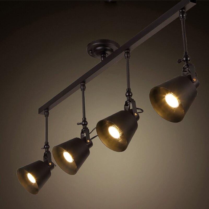 Retro E27 Track Light Spotlights Minimalist Led Ceiling: Wholesale Industrial Retro Loft Track Light Creative Loft
