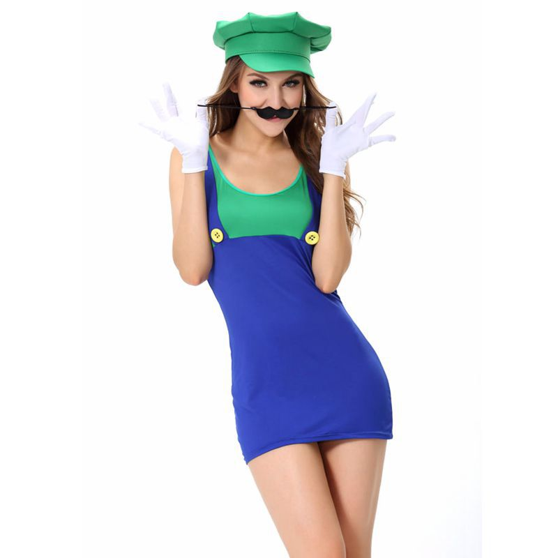 Super Mario Sexy Halloween Costumes For Women Fancy Dresses
