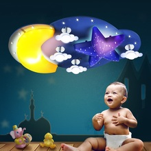 children's and boy/girl bedroom lamp Children lamp moon LED ceiling lights cartoon creative personality light ZH