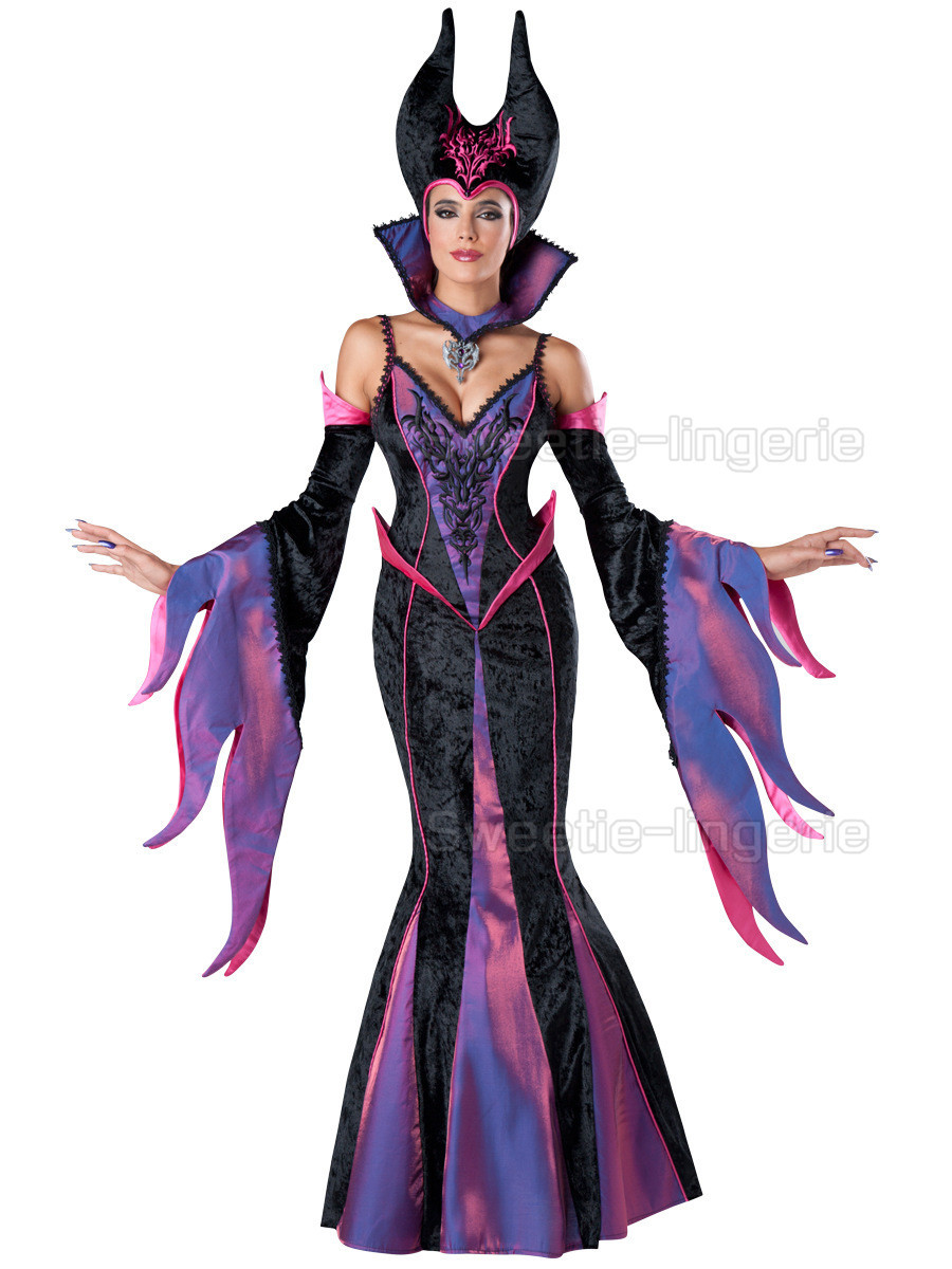 Sexy maleficent Cosplay maleficent Costumes Evil halloween costumes for women Purple Witch disfraces adultos maleficent Dresses