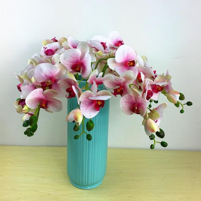 3d phalaenopsis orchid 6 flowerstem silk real touch flower 3d phalaenopsis orchid 6 flowerstem silk real touch flower artificial flower wedding mightylinksfo