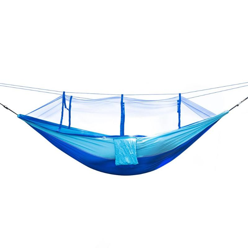 Portable Outdoor Parachute Hammock Mosquito Net Nylon Hanging Bed Sleeping Swing for Camping Hunting Backpacking Travel Beach sgodde portable outdoor travel camping tent folding nylon hammock bed mosquito net nylon 210t fabric for travel kits camping page 3