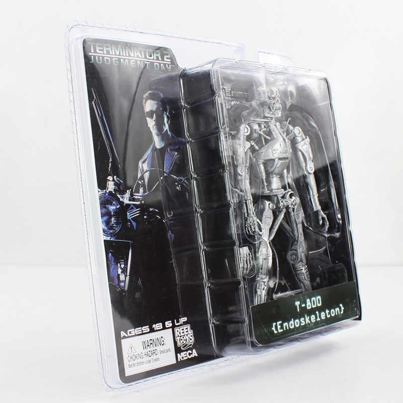 "NECA Terminator Judgment Day T-800 2 Endoskeleton PVC Action Figure Toys Robô 7 ""18 cm"