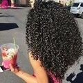 7a Peruano Kinky Curly Virgem Cabelo Weave Kinky Curly Crochet costurar em extensões do cabelo extensões de cabelo 100 humano sassy girl cabelo