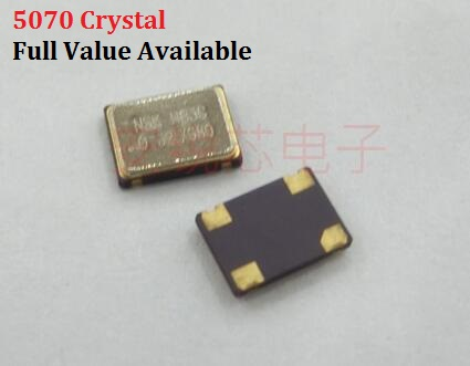 5pcs 5070 4PIN Active Crystal Oscillator 4/6/8/10/12/16.384/20/24/25/30/<font><b>40</b></font>/50/80/125/32.768/11.0592/4.9152/22.1184/<font><b>MHZ</b></font>/M 5X7MM image