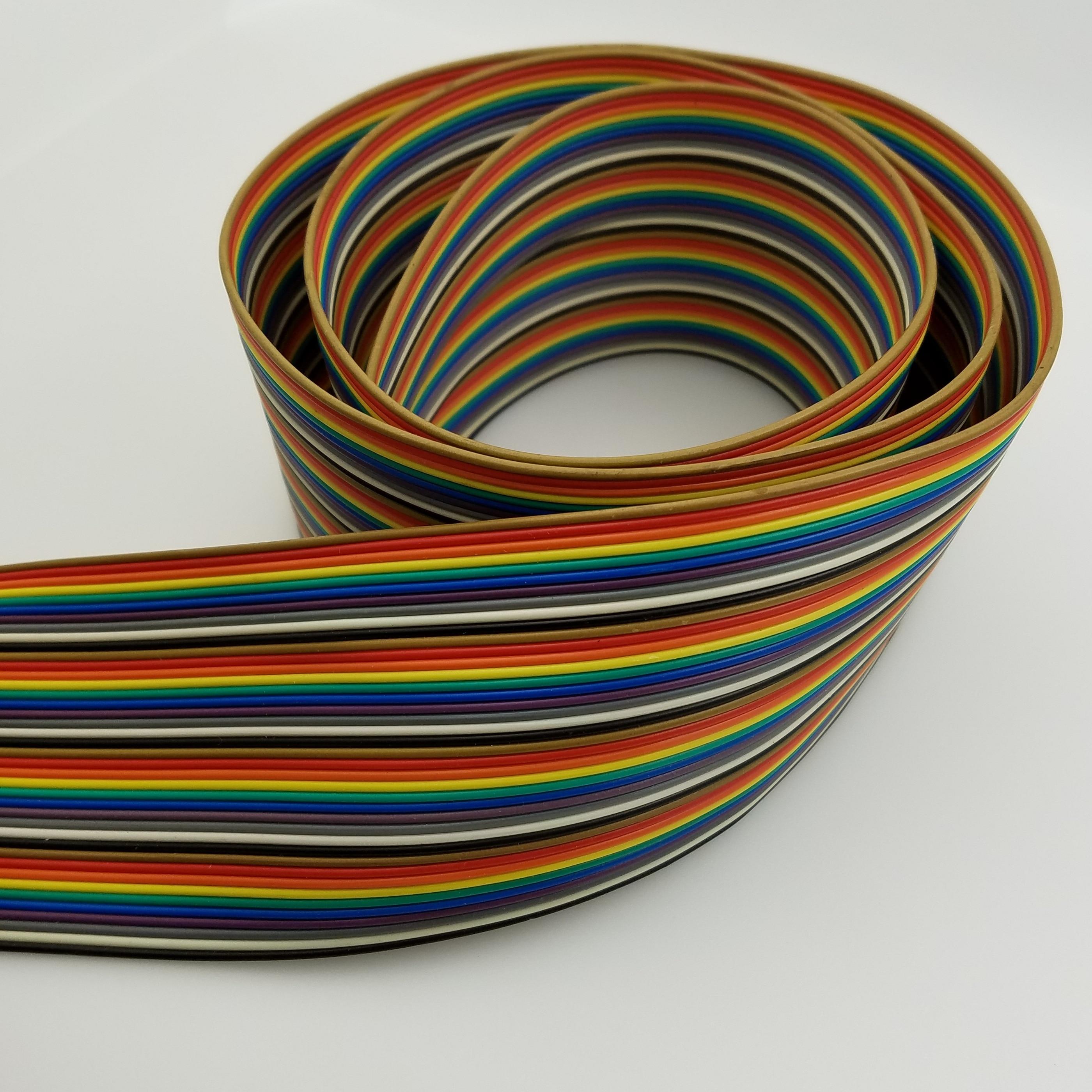 50P NEXTRON 2651 Радужный цветной Ряд Линия 7 нитей на долю 0,127 мм оловянный медный провод 50PIN линия IDC соответствующий провод
