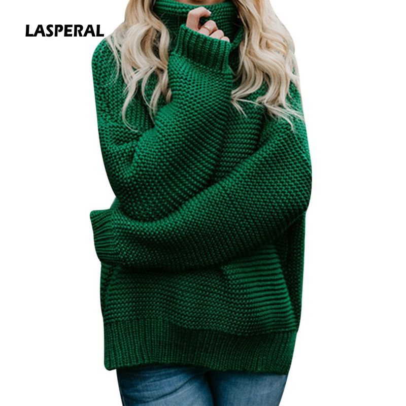 9f8d16009d6 Womens White Turtleneck Sweater Hollow Out Coarse Cable Knit Oversized  Sweater Dress Winter Women Warm Baggy Sweater Female