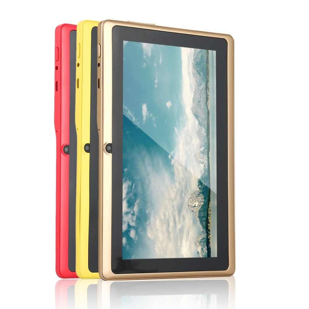 7 zoll Quad-core Tablet Computer Q88h Alle-in A33 Android 4,4 wifi Internet Bluetooth 512MB + 4GB Bequem 9 farben zu wählen