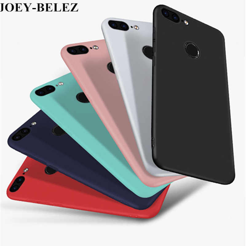 Housing For Huawei Honor 9 Lite Case Huawei PSmart Case Soft Silicone Candy Matte Cover Case For Huawei P Smart 5.65 2019 Fundas