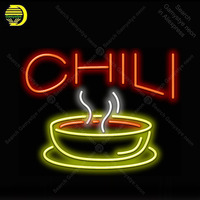 Chili Neon Light Sign Soup Tube Neon Bulb Sign Decor Food Store Coffee Neon board lamp anuncio luminoso Atarii Dropshipping
