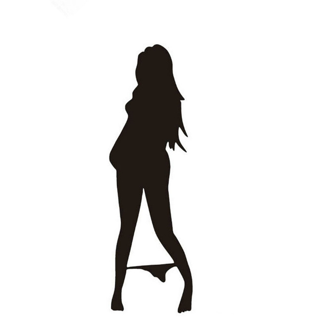 Aliexpresscom  Buy Pcs White Black Hot Sexy Seductive Ladies - Car sticker decals vinyl girl