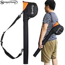 Sougayilang Large Capacity 80cm/31.4in Multi-function Bag PVC Tube inside  Fishing Rod Bag Tackle Fly Fishing Bag Waterproof