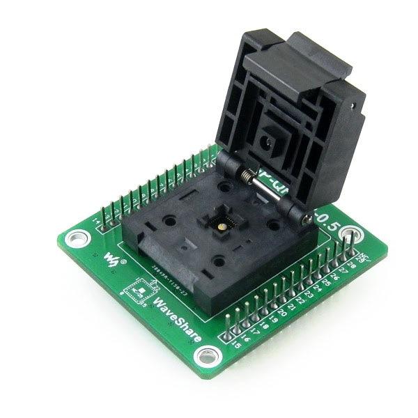 Parts GP-QFN28-0.5-B = QFN28 MLF28 Adapter Enplas IC Test Socket Programming Adapter 0.5mm Pitch QFN-28(36)BT-0.5-02