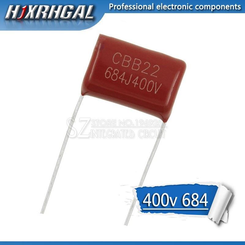 10PCS 400V684J Pitch 15MM 0.68UF 680nf 684 400V CBB Polypropylene Film Capacitor Hjxrhgal