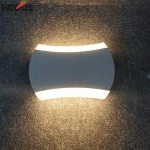 Led 8 Вт вверх и вниз с подсветкой настенный светильник Открытый Водонепроницаемый дома Спальня вилла Кофе фоне стены отель лампы освещения