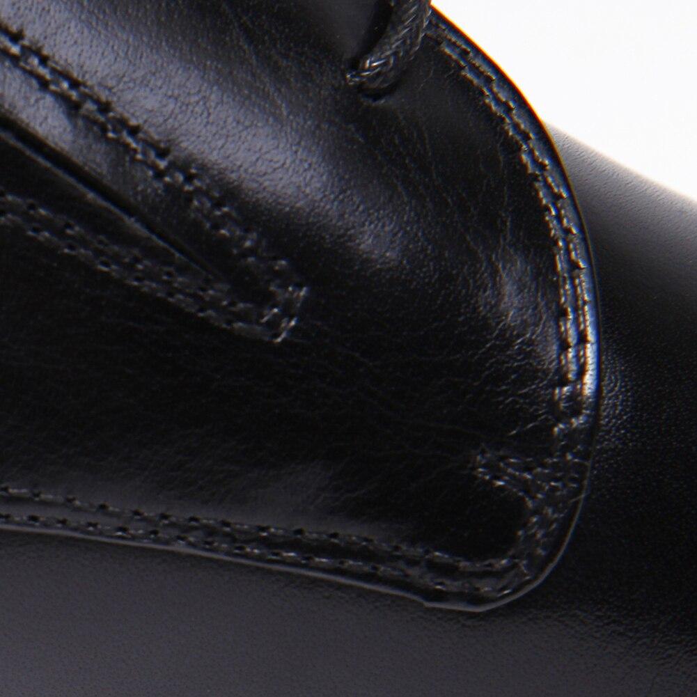 Novo Homens up De 2018 Pé Deslizamento Interior Preto Lace Do Apontado Negócios Porco Derby Dos Couro Noiva Genuíno Vestido Em brown Sapatos Dedo EwRvqR