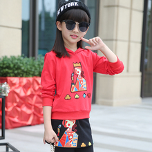 2016 children's clothing suits kids clothes hoodie + children tracksuit pants boy girls set free shipping