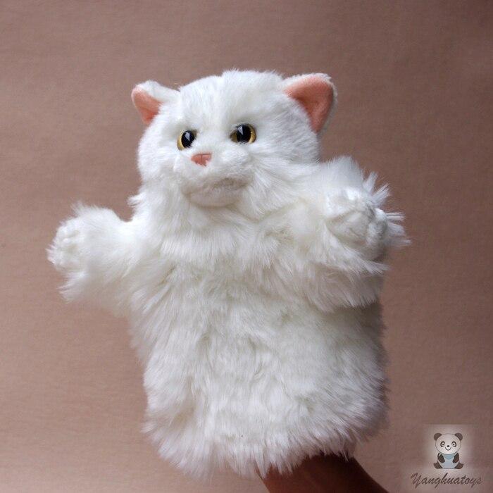 Grand jouet de poupée de marionnette à main poupées de chat persan jouets pour enfants en peluche marionnettes cadeaux