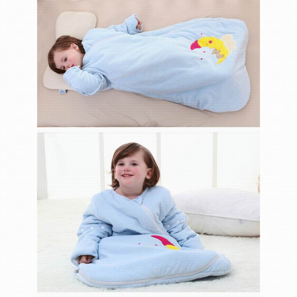 2016 new style cute baby child sleeping bag autumn and winter big infant warm winter quilt