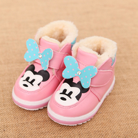 Kids Shoes Baby Girl Boots Winter Warm Soft Snow Boots Infant Baby First Walkers Comfortable Cartoon