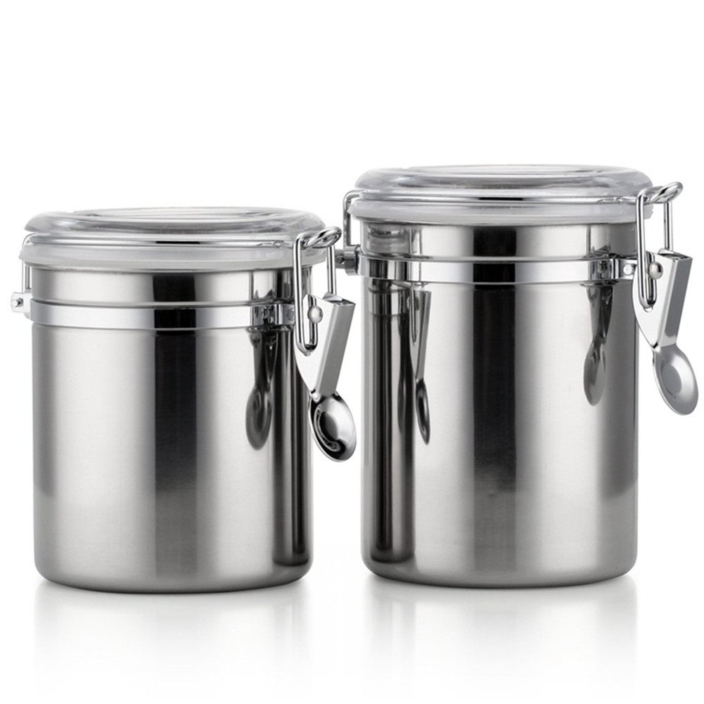 2019 Stainless Steel Container Kitchen Utensil Clear Lids Storage Canisters  Silver Portable With Airtight Lids Sealed Jar From Unclouded01, $39.69 | ...