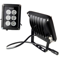 VERYSMART 6 LED Night Vision Infrared IR Light illuminator Lamp Waterproof Housing For CCTV Security Camera System 850nm