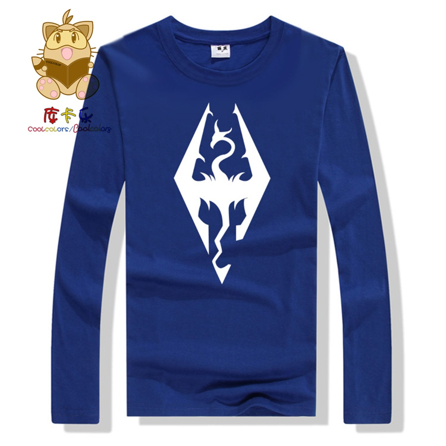 High quality long sleeve cotton t shirt The Elder Scrolls game fans t shirt ac235 image
