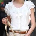 Moda feminina camisa blusa chiffon sólido branco s 5xl plus size roupas casual blusas femininas corpo clothing mulheres tops blusas