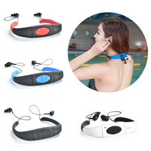 Waterproof 4G/8GB Sport MP3 Music Player Neckband Stereo Earphone Sweatproof Audio Headset with FM for Diving Swimming