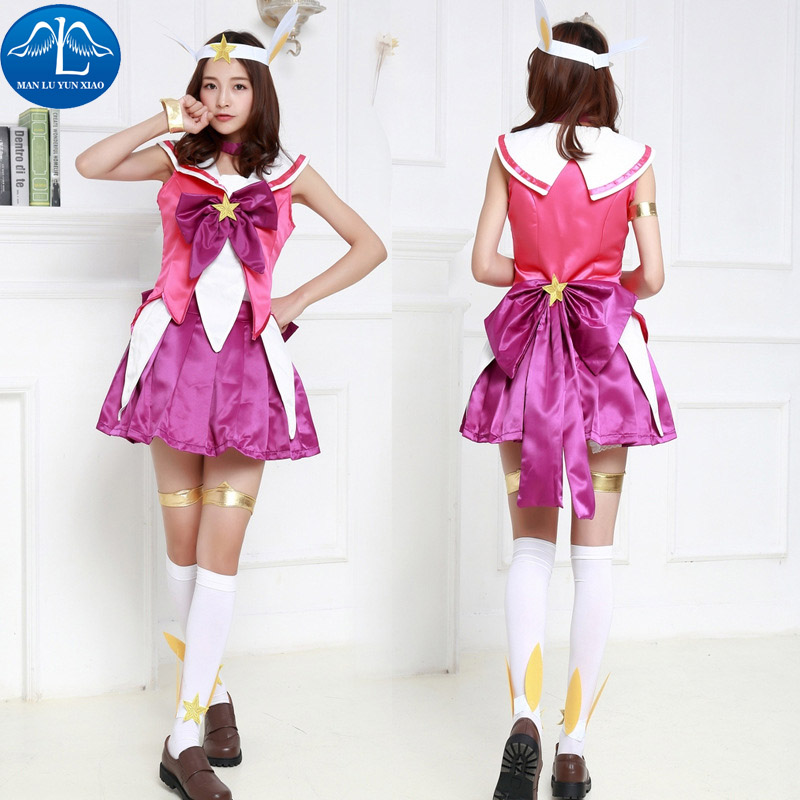 MANLUYUNXIAO Women Costume Game Character LOL Light Magic Girl Costume Halloween Cosplay Costume For Women Hot Sale Wholesale