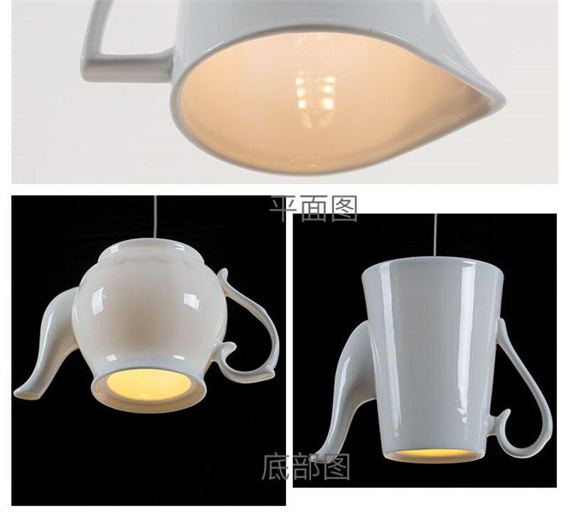 com copo de chá, lâmpada suspensa para
