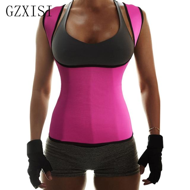 16beafa1d3 Drop Shipping Neoprene Sauna Waist Trainer Cincher Vest Hot Slimming Sweat  Belt Fat Burning Body Shaper For Women Weight Loss