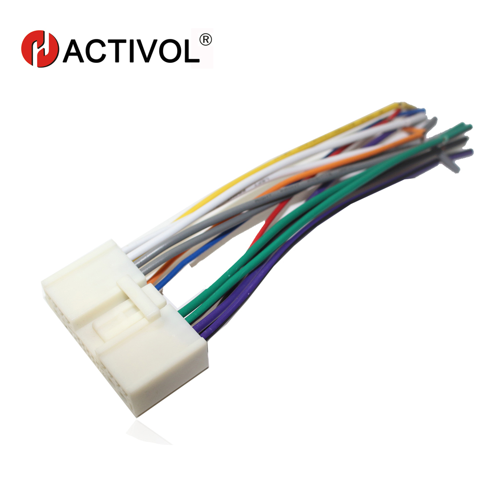 car radio stereo male iso plug power adapter wiring harness special for mazda 2 mazda 3 [ 1000 x 1000 Pixel ]