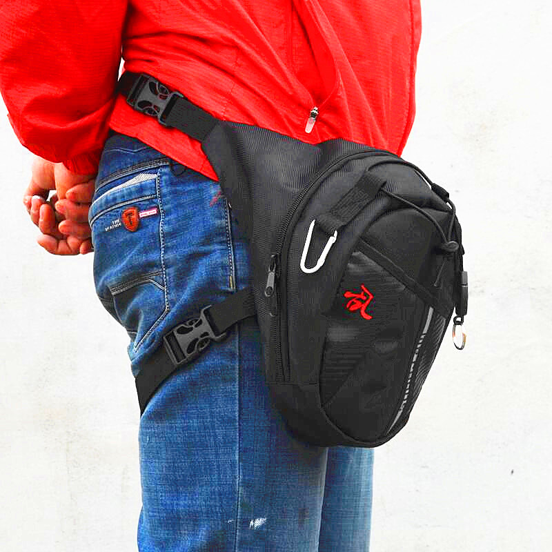 2018 Motorcycle Funny Drop Belt Pouch Fanny Pack Waist Bag Belt Packs Nylon Waist Packs Leg Bag Waterproof Waistpack