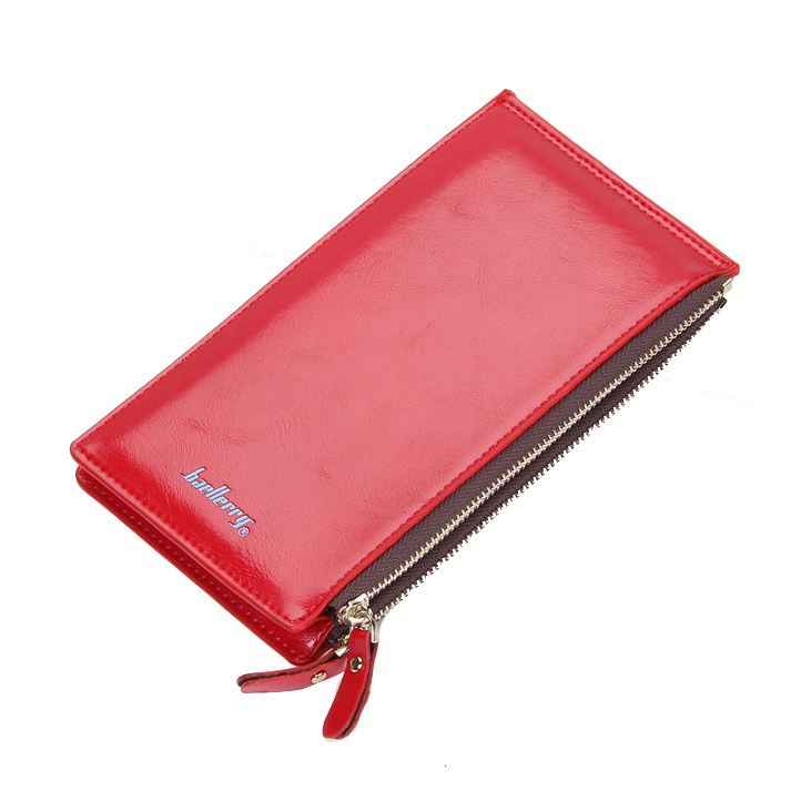 Fashion Boutique baellerry 1x PU leather Ladies long section multi-function zipper large capacity card wallet, Red