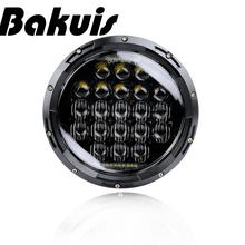 7 Inch 75W 5D Round moto LED Projector Headlight For Harley  Motorcycle & For Jeep Wrangler LED Headlamp Bulbs