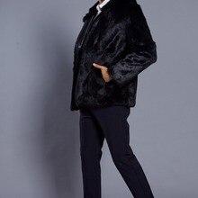Весенняя новая мужская куртка с капюшоном из искусственного меха мужские рубашки на молнии новая зимняя Европейская и американская Горячая куртка из искусственного меха s