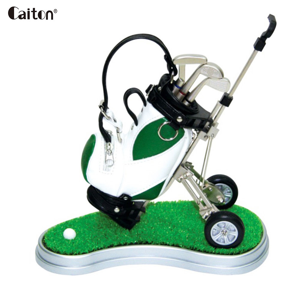 Caiton Novelty mini golf bag pens holder christmas golf souvenir tour novelty golfers gift set
