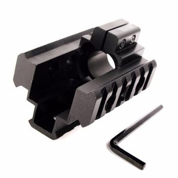 20 мм трехрельсовый тройной боковой Пикатинни Вивер ствол основание Крепление просвечивается для 12 калибра прицел охота