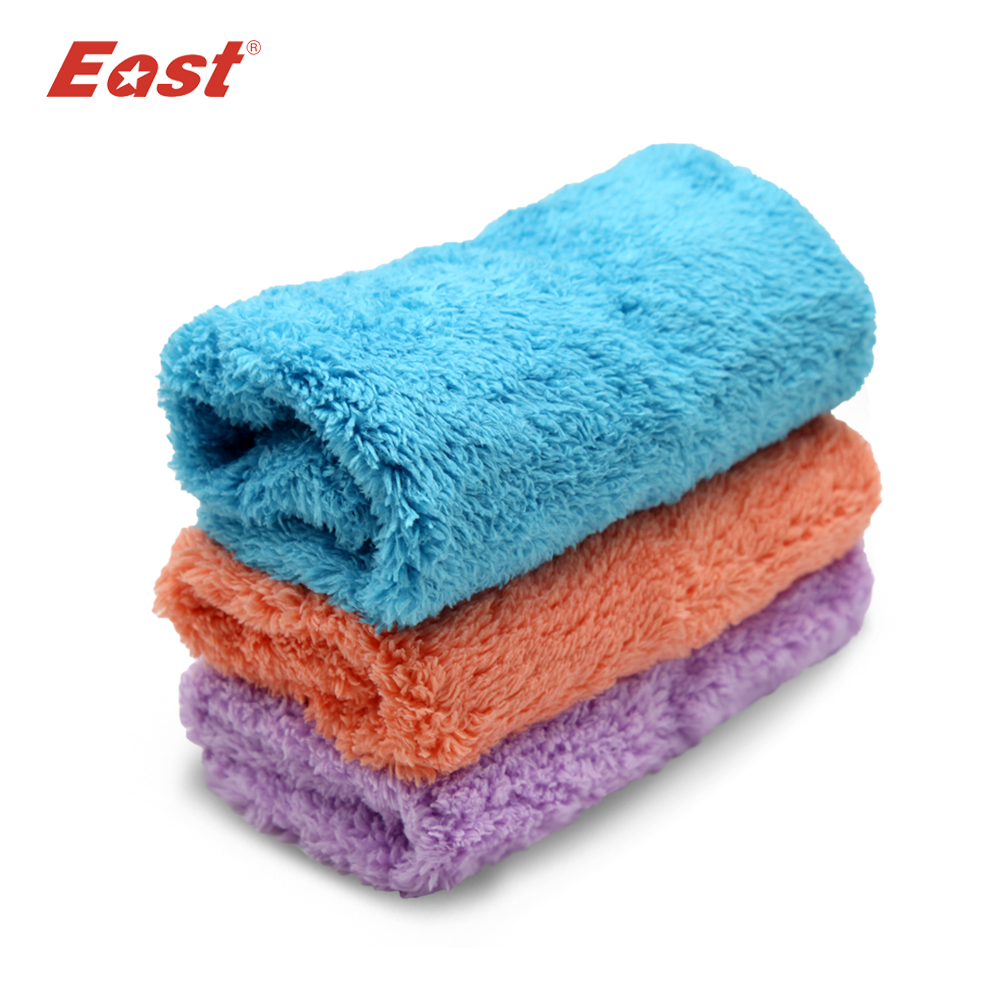 East 3 pcs/lot Super Absorbent Microfiber Cleaning Cloth High-efficiency for tableware Household Cleaning Tools