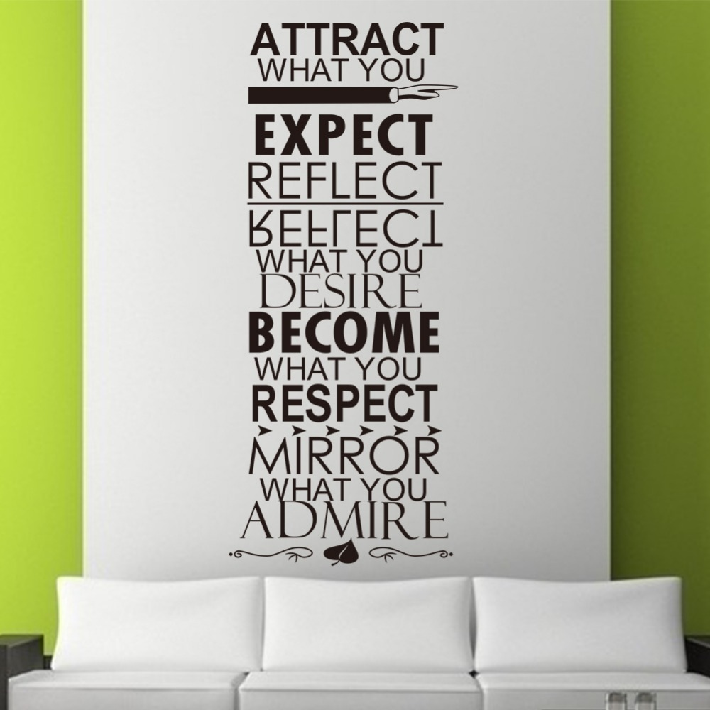 online get cheap wall decoration quotes aliexpress com alibaba hot size138 57cm expect quote wall sticker removement water proofing creative black home wall decor zy 8246