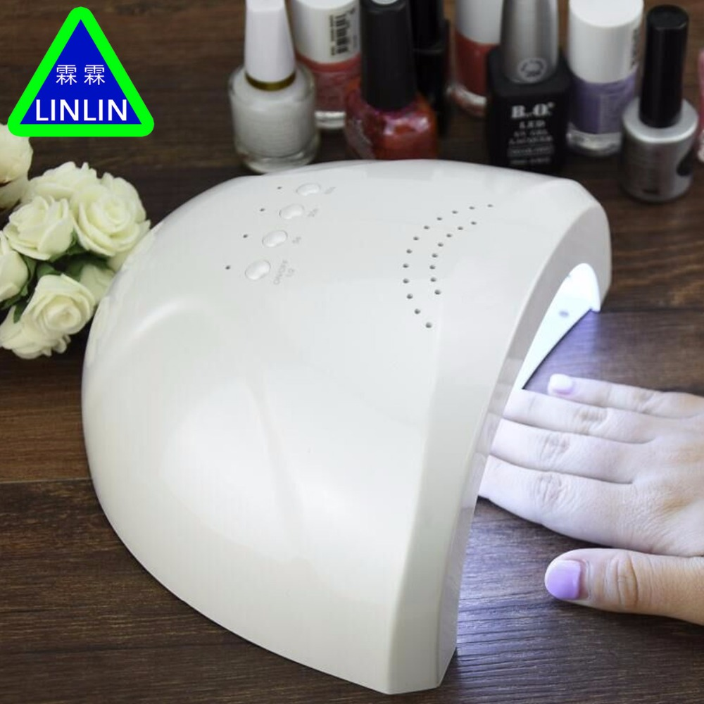 LINLIN LED Nail Dryer White Light UV Lamp Manicure Machine Fast Drying Gel Curing Nail Art Tools Massage & Relaxation uvled 48w 24w with sensor nail lamp profession fast drying gel curing double white light manicure machine nail art tools