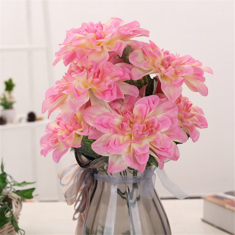 Crley 2pcs Dahlia Fake Flower Drop Shipping Colorful Wholesale Price