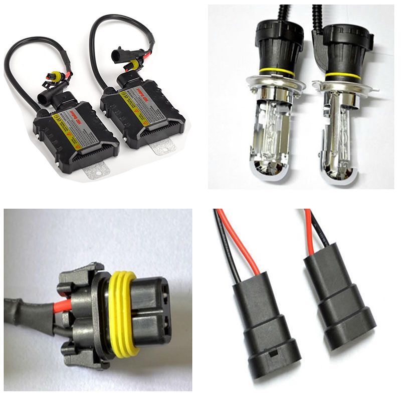 1 set Xenon HID Headlight Bulbs Conversion Kit H7 55W Single Beam Xenon Bulb Lamp 8000K And Digital Ballast For Car Headlight new conversion 12v 35w silver ballast kit 880 8000k hid xenon bulbs headlight [c418]