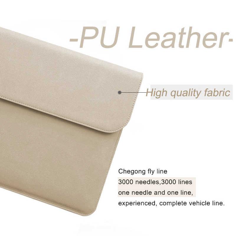 Nowy matowy PU torba na laptopa dla Xiaomi Macbook Pro touch bar 13 Case Air 13 11 12 15 pokrywa dla Lenovo Dell Asus 14 15.6 torby