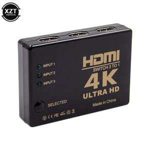 Image 4 - 1PCS 3 Port 4K*2K 1080P Switcher HDMI Switch Selector 3x1 Splitter Box Ultra HD for PC DVD HDTV Xbox PS3 PS4 Multimedia HOT sale