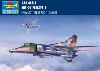 Trompeta 05802 1:48 MIG-27 Flogger D ataque avión modelo de montaje